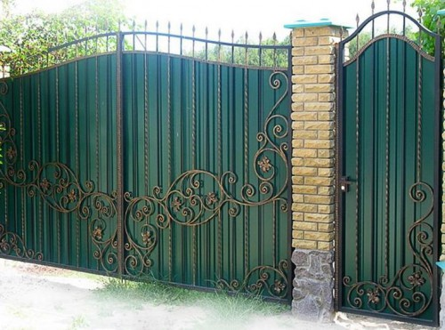 декорирование ворот