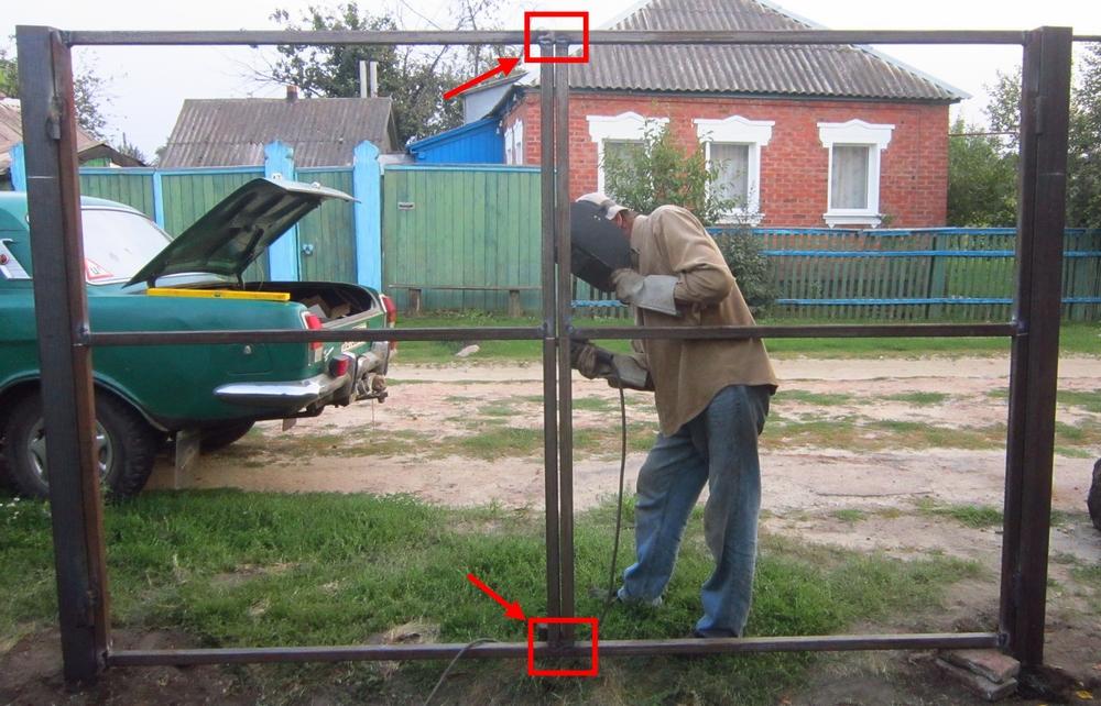 Как построить ворота из профнастила своими руками видео