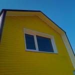 Обшиваем фронтон крыши профнастилом