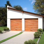 Устройство односкатной крыши из профнастила для гаража