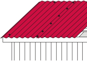 стыковка профнастильных листов