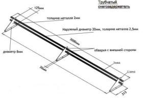 схема трубчатого снегодержателя
