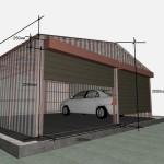 Постройка гаража из профлиста своими руками