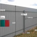 Забор из профнастила и евроштакетника