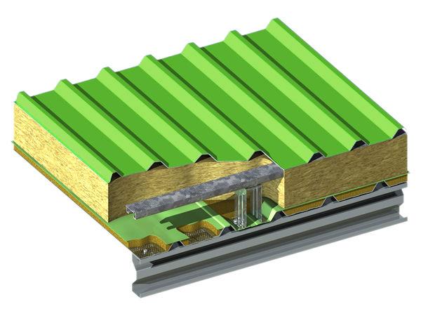 Трехслойная структура сэндвич-панелей